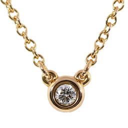 ティファニー エルサペレッティ・バイザヤード 1P・ダイヤモンドネックレス/K18RG/750-2.0g/0.03ct/TIFFANY & Co. ■218189