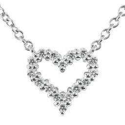 ティファニー ハート ペンダント(エクストラミニ) ダイヤモンドネックレス/Pt950-2.45g/0.06ct/TIFFANY & Co. /h190312■283027