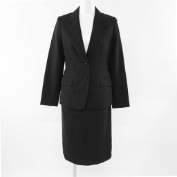 イネド セットアップスーツ(テーラードジャケット スカート)/11/ブラック/INED 翌日配送可■205080