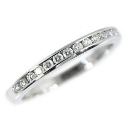 ティファニー 15P・ハーフサークル チャネルセッティングバンド・ダイヤモンドリング・指輪/Pt950-2.8g/7号/#47/TIFFANY & Co. ■207081