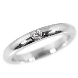 ティファニー エルサペレッティ 1P・ダイヤモンド・バンドリング・指輪/Pt950-4.6g/5.5号/プラチナカラー/TIFFANY & Co. ■209173