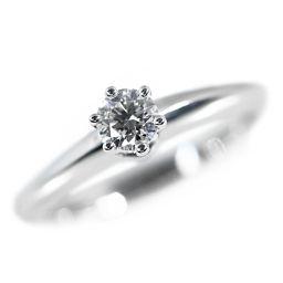 ティファニー ソリティア/ソリテール/Solitaire・ダイヤモンドリング・指輪/Pt950-4.2g/0.20ct-IVS1EX/6.5号/TIFFANY & Co.■211295