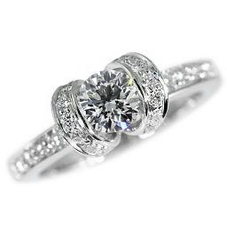 0.44ctティファニー リボンリング・ダイヤモンド(エンゲージ・マリッジ)指輪/Pt950-4.7g/6.5号/プラチナカラー/TIFFANY & Co. ■213655