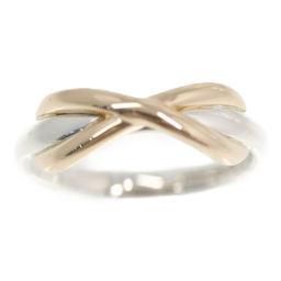 ティファニー クロスリング・指輪/Sv925×K18/750コンビ-2.9g/4号/#44/シルバー×ローズゴールド/TIFFANY & Co. 翌日配送可/h191016■311707