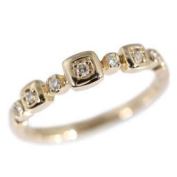 スタージュエリー 7P・ダイヤモンドリング・指輪/K18PG/750-2.2g/0.07ct/7号/#47/イエローゴールド/STAR JEWELRY 翌日配送可/h181220■225628