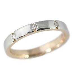 ポンテヴェキオ 3P・ダイヤモンドリング・指輪/K18/750×Pt900-3.4g/FD:0.03ct/7.5号/Ponte Vecchio 翌日配送可/h190122■227758