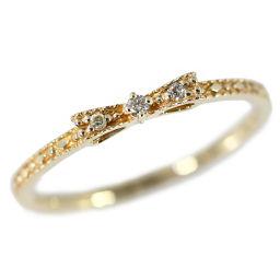 ノジェス リボンモチーフ 3P・ダイヤモンドリング・指輪/K10PG/416-1.0g/0.02ct/9号/#49/ピンクゴールド/NOJESS 翌日配送可/h190202■229871