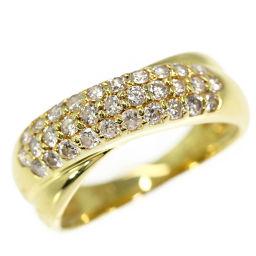 ポンテヴェキオ クロスデザイン・31P・ダイヤモンドリング・指輪/K18YG/750-3.9g/0.5ct/10号/#50/Ponte Vecchio 翌日配送可/h190405■283194