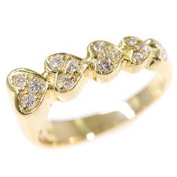 ポンテヴェキオ ハートモチーフ 15P・ダイヤモンド(ファッション)リング・指輪・天然/K18YG/0.14ct/Ponte Vecchio 翌日配送可/h190611■294209