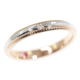 スタージュエリー 1P・ダイヤモンド(ファッション)リング・指輪/K18/750×Pt950コンビ-5:5-2.3g/0.01ct/STAR JEWELRY 翌日配送可/h190711■295889