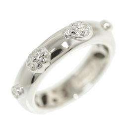 New goods finish * kimento flower * pair * ring closure diamond ring * ring /K18WG/750-5.5g/9 number / # 49 / white gold / Chimento / h200117 ■ 325195