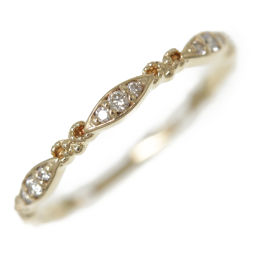 Agat Texture 9P ・ Diamond Ring ・ Ring ・ Natural / K10YG / 416-0.9g / FD: 0.06ct / 8 / # 48/10112111074 / agete / h200303200332151