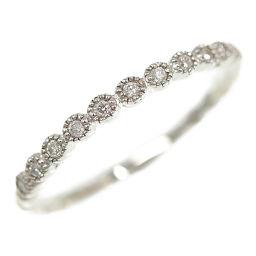 Agat Half Eternity 11P ・ Diamond Ring ・ Ring ・ Natural / K10WG / 416-1.3g / 0.09ct / 10.5 No./#50.5/White Gold / agete / h200309 ■ 332871