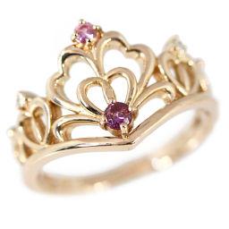サマンサティアラ クラウンモチーフ・ピンクサファイア・ダイヤモンドリング・指輪/K18PG/3.7g/0.02ct/10号/#50/Samantha Tiara/h190124■228615