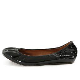 ランバン パテントレザー フラットシューズ靴/37 1/2/ブラック/LANVIN 翌日配送可■215318