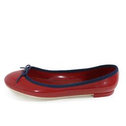 レペット リボン ラバー フラットシューズ靴/40(25cm相当)/レッド×ネイビー/Repetto 翌日配送可/b190112■227951