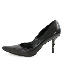 グッチ ポインテッドトゥ・バンブーヒール・パンプス靴/171061/6B(23cm相当)/ブラック/GUCCI 翌日配送可■218604