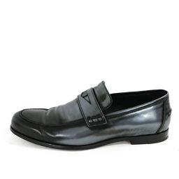 ジミーチュウ 133DARBLAY・ダーブレイ・ローファー靴/43(28cm相当)/ブラック×シルバー系/JIMMY CHOO 翌日配送可/b181129■224106
