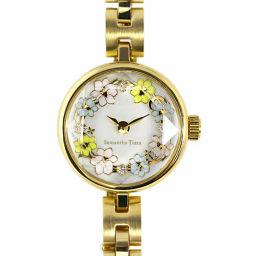 サマンサティアラ Flower Tiara Watch ラウンドフォルム時計/stainless steal/1621501701-61-00/ゴールド/Samantha Tiara■204971