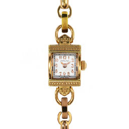 ハミルトン タイムレス・クラシック スクエアフォルム・クォーツ時計・ウォッチ/SS/18.5g/ゴールドカラー/HAMILTON 翌日配送可■208349