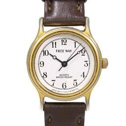 シチズン FREEWAY時計/SS/stainless steal-14.0g/ゴールド×ブラウン/CITIZEN 翌日配送可/h190522■289323