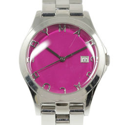 Marc Jacobs Quartz watch / SS / stainless steal-113.0g / MBM3037 / Silver x Pink / MARC JACOBS Next day delivery possible / h200109 ■ 323350