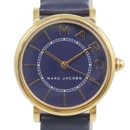 Marc Jacobs Roxy Quartz Watch Leather Belt / SS / stainless steal-30.4g / MJ1539 / Gold Color / MARC JACOBS / h200227 ■ 331024