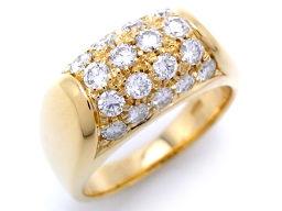 BVLGARI ブルガリ トロンケット ダイヤモンド K18イエローゴールド×ダイヤモンド 10号 レディース リング・指輪 DH33475【中古】Aランク