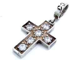 Loree Rodkin Lowry Crosskin SV925 Zirconia Silver 925 Ladies Pendant Top DH34537 [pre-owned]