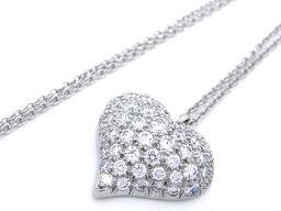 TIFFANY&Co. ティファニー Pt950プラチナ×ダイヤモンド シルバー 銀 レディース ネックレス【中古】Aランク