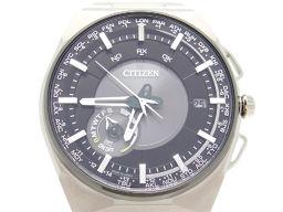CITIZEN シチズン CC2006-53E チタン ブラック シルバー メンズ 腕時計【中古】Aランク
