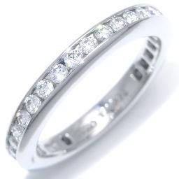 HARRY WINSTON ハリーウィンストン ラウンド チャネル セット ダイヤモンド Pt950プラチナ×ダイヤモンド 10号 レディース リング・指輪 DH41829【中古】ABランク