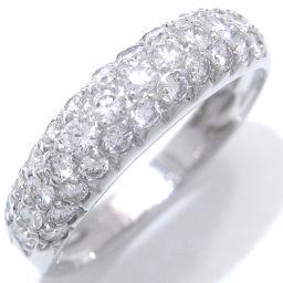 Van Cleef & Arpels ヴァンクリーフ&アーペル イヴ パヴェ ダイヤモンド×18KTホワイトゴールド  ダイヤモンド 12.5号 レディース リング・指輪 DH43664【中古】Aランク