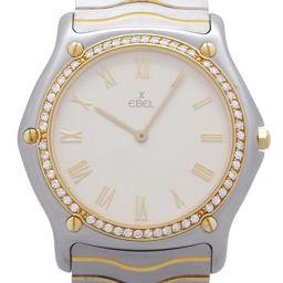 EBEL エベル ステンレススチール×GP×イエローゴールド(ベゼル) アイボリー文字盤 メンズ 腕時計【中古】ABランク