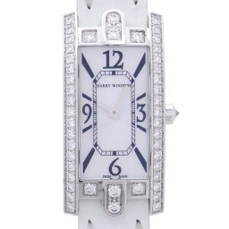 HARRY WINSTON ハリーウィンストン ダイヤモンド AVCQHM16WW024 750ホワイトゴールド×レザー シェル文字盤 レディース 腕時計【中古】Aランク
