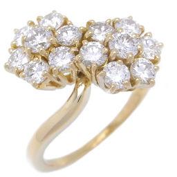 Van Cleef & Arpels ヴァンクリーフ&アーペル ドゥフルーレット ダイヤモンド 750イエローゴールド×ダイヤモンド 14.5号 レディース リング・指輪 DH47055【中古】Aランク