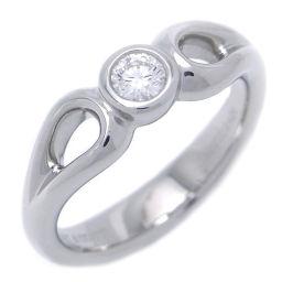 TIFFANY&Co. ティファニー ダブル オープン ティアドロップ 1P ダイヤモンド Pt950プラチナ×ダイヤモンド 9号 レディース リング・指輪 DH47212【中古】ABランク
