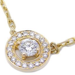 Boucheron ブシュロン アバ ダイヤモンド ペンダント  750イエローゴールド×ダイヤモンド レディース ネックレス DH47380【中古】Aランク
