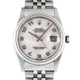 ROLEX ロレックス 16234NA ステンレススチール×ホワイトゴールド ホワイト シェル アラビアン 文字盤 メンズ 腕時計【中古】ABランク