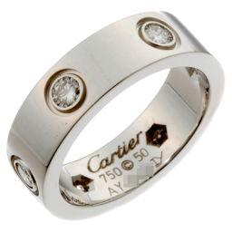 CARTIER カルティエ 750ホワイトゴールド×ダイヤモンド 10号 レディース リング・指輪【中古】Aランク