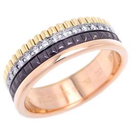 Boucheron ブシュロン 750ピンクゴールド×750ホワイトゴールド×750イエローゴールド PVD ダイヤモンド 17号 レディース リング・指輪【中古】ABランク