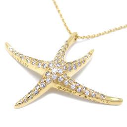 TIFFANY&Co. ティファニー K18イエローゴールド×ダイヤモンド レディース ネックレス【中古】Aランク