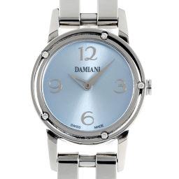 Damiani ダミアーニ DS006 ステンレススチール×ダイヤモンド ブルー アラビアン 文字盤 レディース 腕時計【中古】ABランク