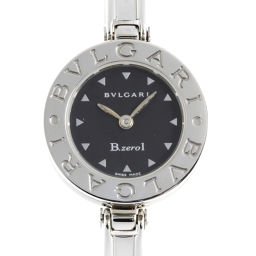 BVLGARI ブルガリ BZ22S ステンレススチール ブラック 文字盤 レディース 腕時計【中古】ABランク