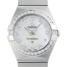 OMEGA オメガ 123.15.24.60.55.005 ステンレススチール シェル 12P ダイヤモンド 文字盤 レディース 腕時計【中古】Aランク