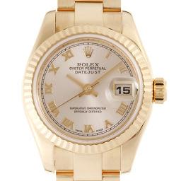 ROLEX ロレックス 179175 750ピンクゴールド ピンク ローマン 文字盤 レディース 腕時計【中古】Aランク