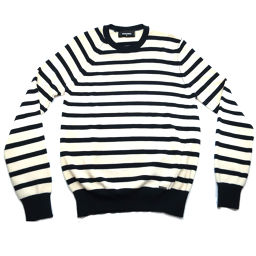 DSQUARED2 Dsquared Border Crewneck Long Sleeve Lamb Wool 100% x Lamb Wool 100% Men's Sweater DH48625 [pre-owned] A rank
