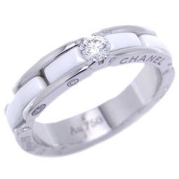 CHANEL シャネル 750ホワイトゴールド×セラミック×ダイヤモンド 8号 リング・指輪【中古】Aランク