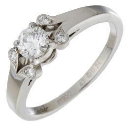 CARTIER カルティエ バレリーナ ダイヤモンド Pt950プラチナ×ダイヤモンド 7号 レディース リング・指輪 DH48744【中古】Aランク