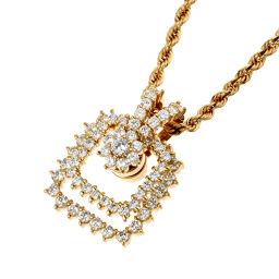 WALTHAM ウォルサム ダイヤモンド ペンダント 750イエローゴールド×ダイヤモンド レディース ネックレス DH48992【中古】Aランク